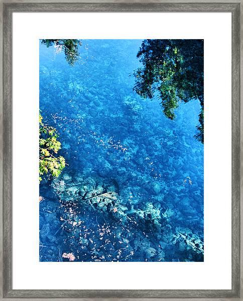 Blue Pool I Mckenzie River Oregon Framed Print