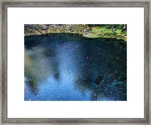 Blue Pool V Framed Print