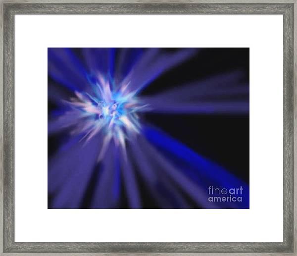 Blue Star Framed Print