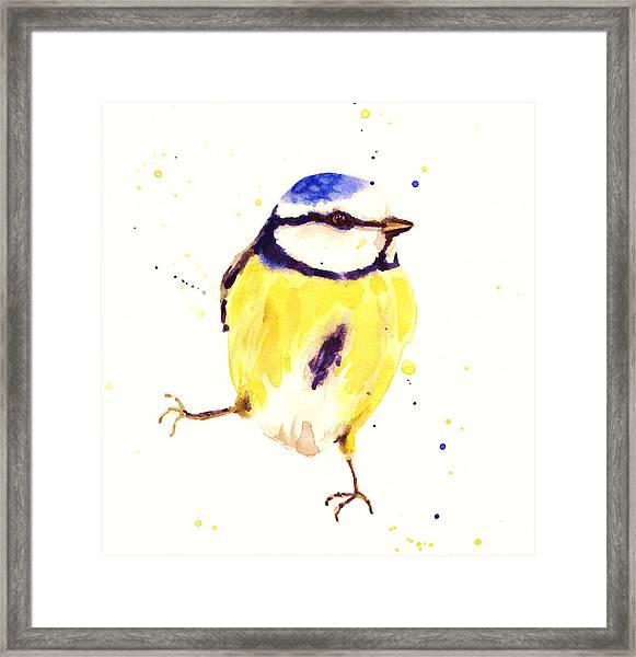 Blue Tit Painting Framed Print