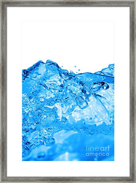 Blue Wave Framed Print by HD Connelly