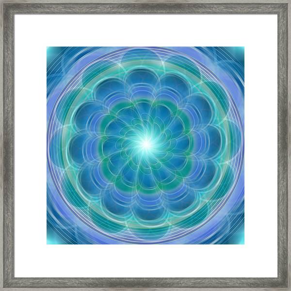 Bluefloraspin Framed Print