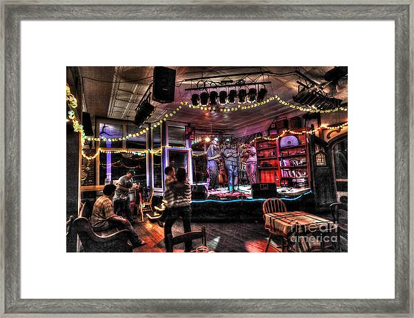 Bluegrass Band Playing Framed Print