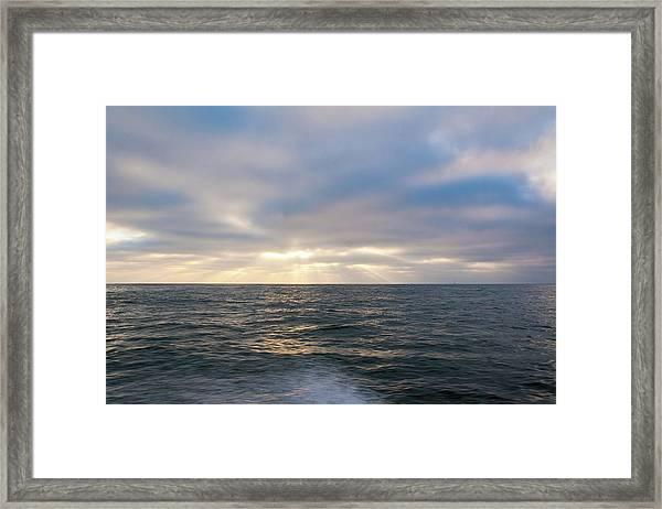 Bluegrey Sunset Framed Print
