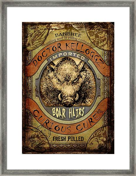 Boar Hairs  Framed Print