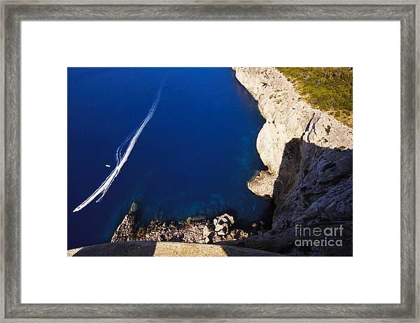 Boat In The Sea Framed Print
