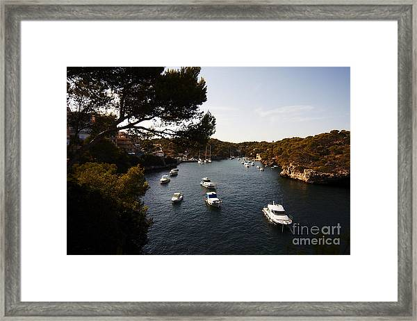 Boats In Cala Figuera Framed Print