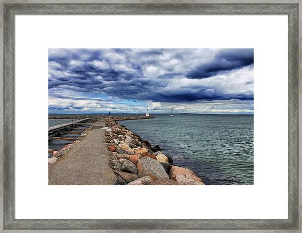Bogense Harbor Framed Print