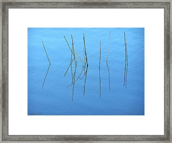 Boku In Bleu Framed Print