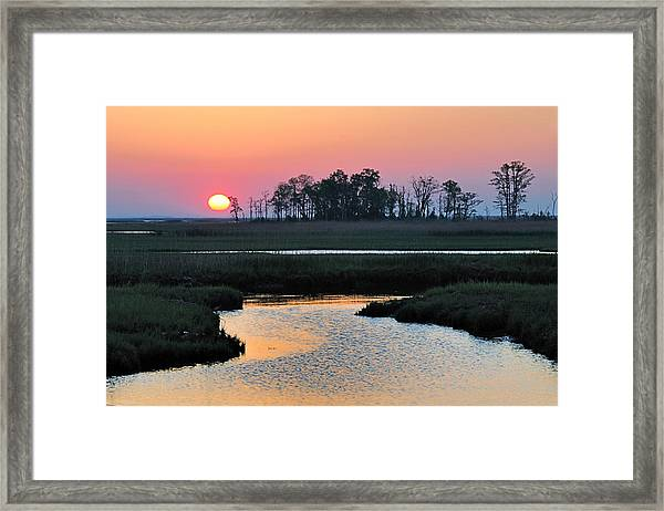 Bombay Hook Sunrise Framed Print