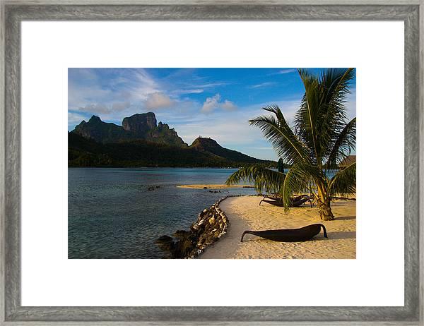 Bora Bora Beach Framed Print by Benjamin Clark