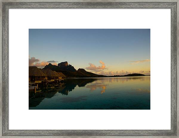 Bora Bora Dawn Framed Print by Benjamin Clark