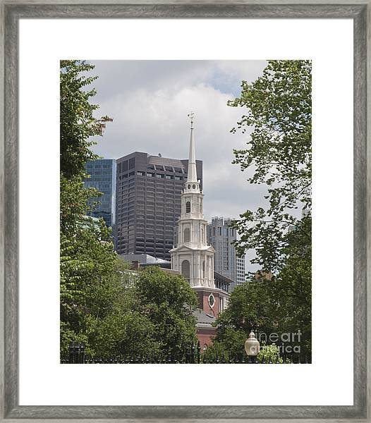 Boston Old And New Framed Print