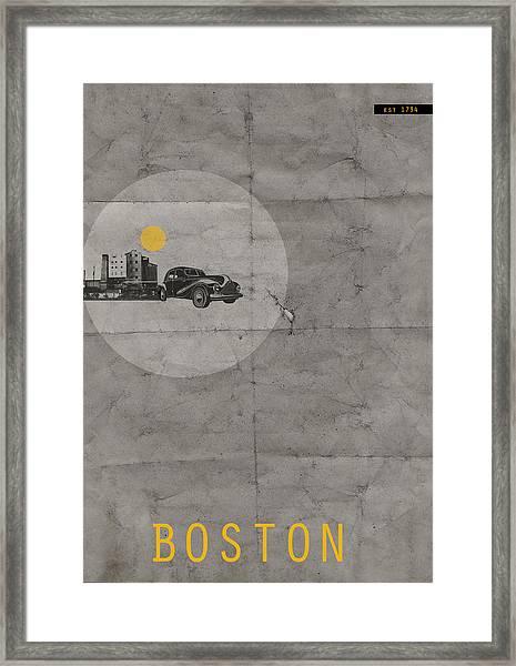 Boston Poster Framed Print