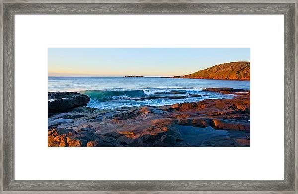 Boulder Bay Sunrise Framed Print