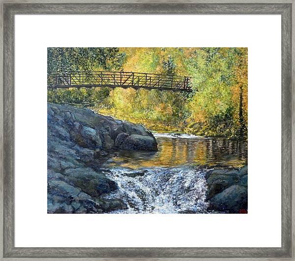 Boulder Creek Framed Print
