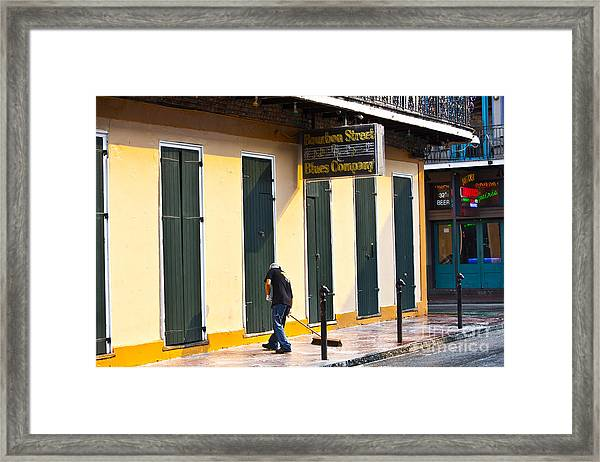 Bourbon Street Morning Framed Print