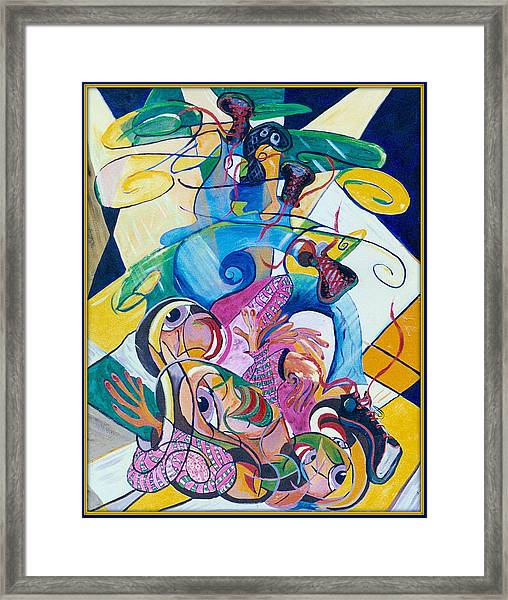 Breakdancer Framed Print