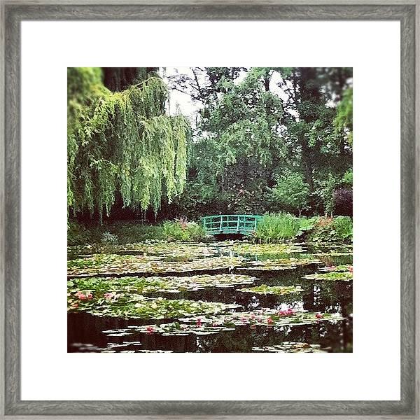 Bridge & Pond Framed Print