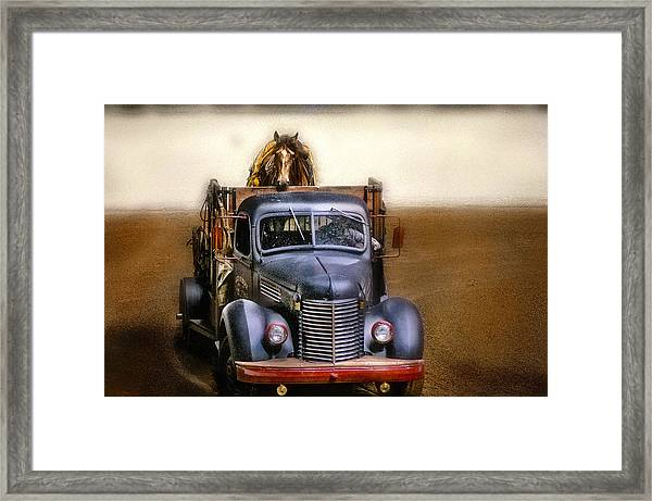 Broke To Ride Framed Print