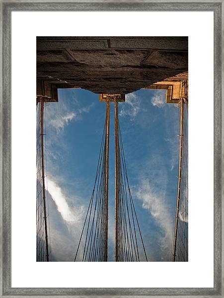 Brooklyn Bridge Perspective Framed Print by Patrick  Flynn
