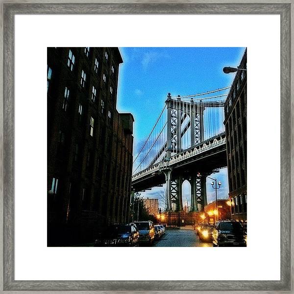 #brooklyn #ny #newyork #newyorker Framed Print