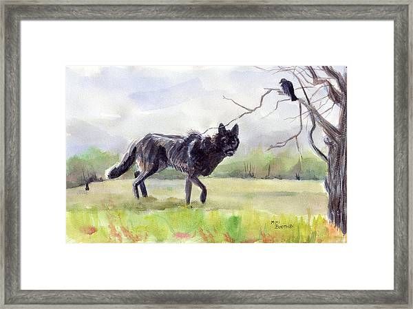Brother Crow Announces The Arrival Of Brother Wolf Framed Print