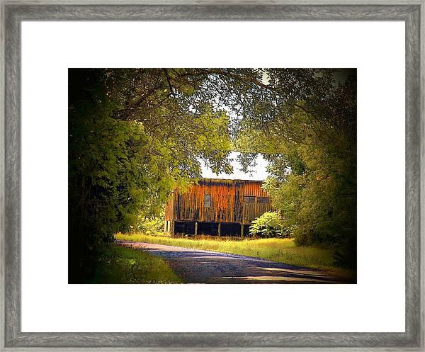 Brown Barn Framed Print