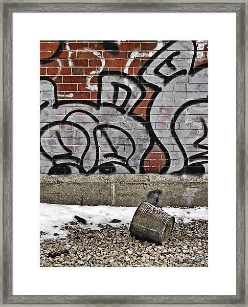 Buckets Framed Print