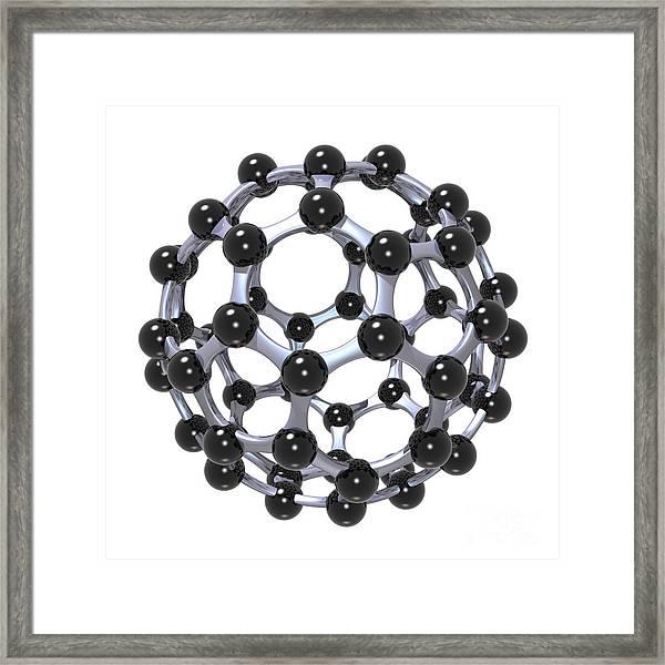 Buckminsterfullerene Or Buckyball C60 18 Framed Print