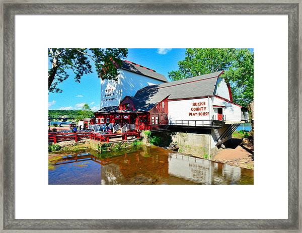Framed Print featuring the photograph Bucks County Playhouse by William Jobes