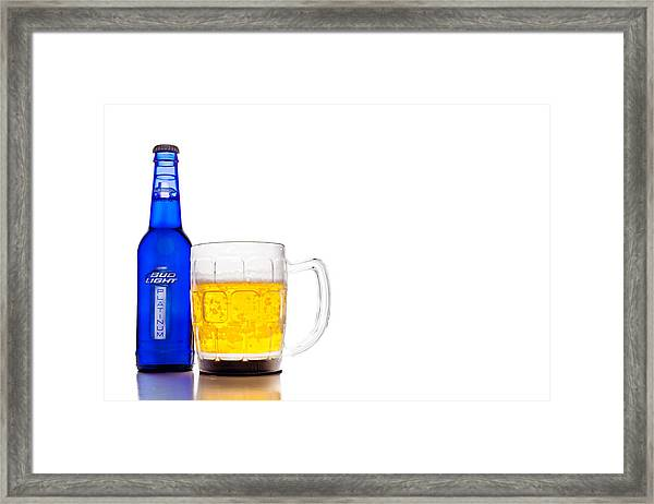 Bud Light Platinum Framed Print