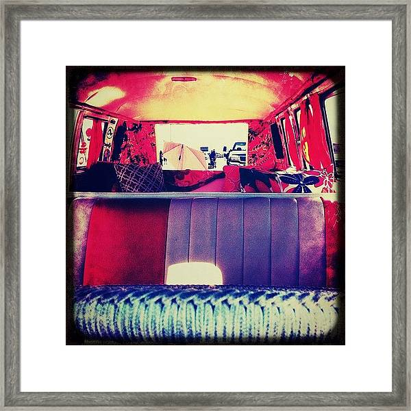#bugorama #vw #bus #interior Framed Print