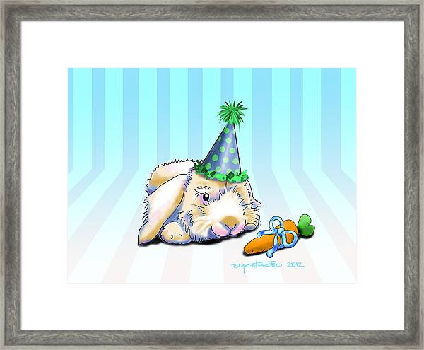 Bunny Present Framed Print