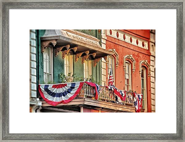 Bunting In Canton Square  Framed Print