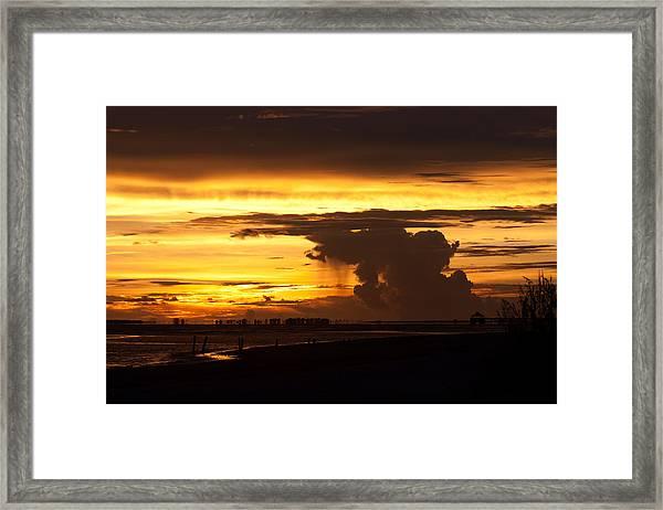 Burning Sky Framed Print
