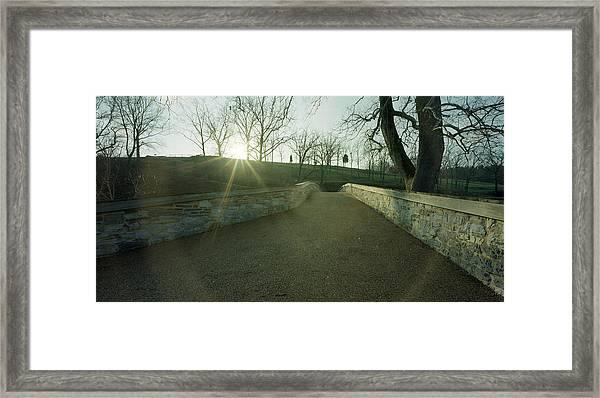 Burnside's Bridge From East Framed Print by Jan W Faul