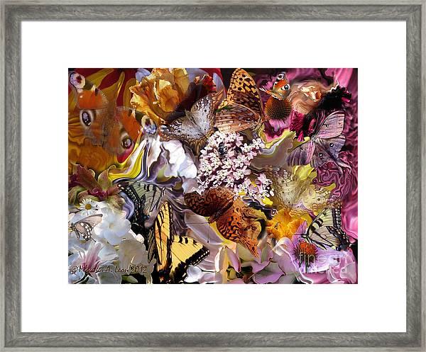 Butterfly Garden Framed Print