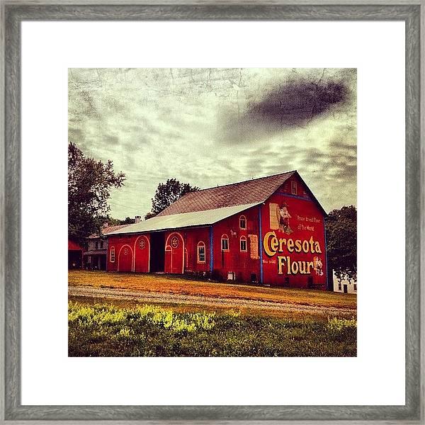Buy Flour. #barn #pa #pennsylvania Framed Print