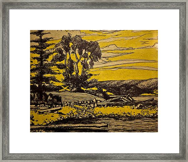 By The River Framed Print