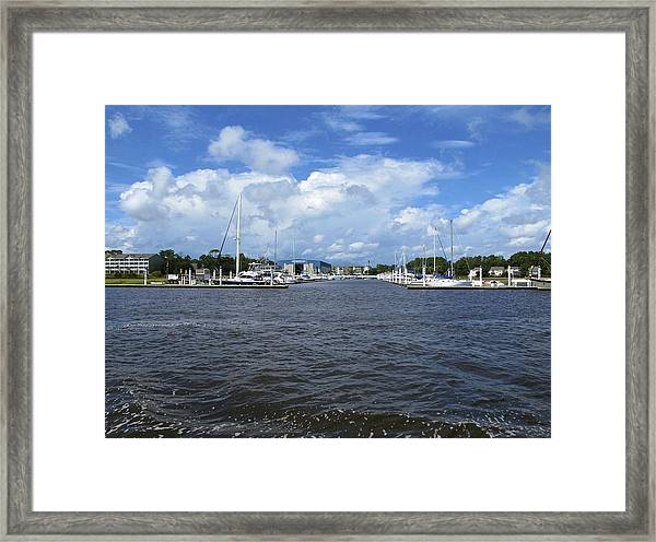 Framed Print featuring the photograph Bye Bye by Ralph Jones