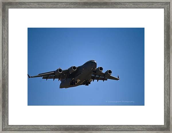 C-17 In Flight Framed Print