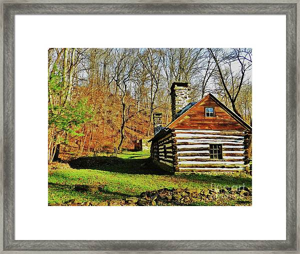Cabin In The Woods Framed Print by Snapshot Studio