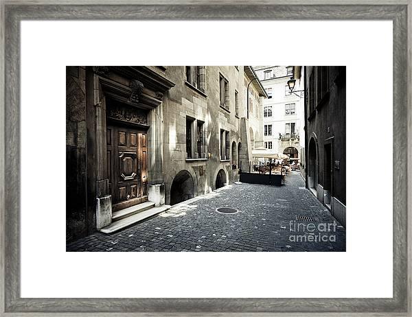 Cafe Geneve Framed Print