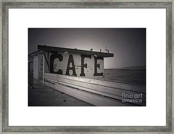 Cafe On The Pier Framed Print