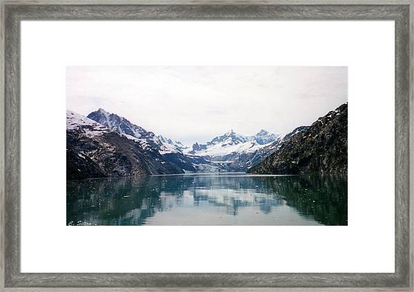 Calm Glacier Bay Framed Print