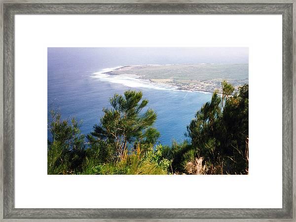 Calm Hawaiian Shore Framed Print