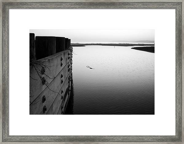 Calm Water In Cambria Framed Print