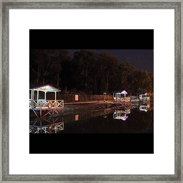 Calmness And Tranquility By The Framed Print