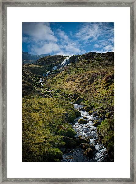 Calmness At The Falls Framed Print